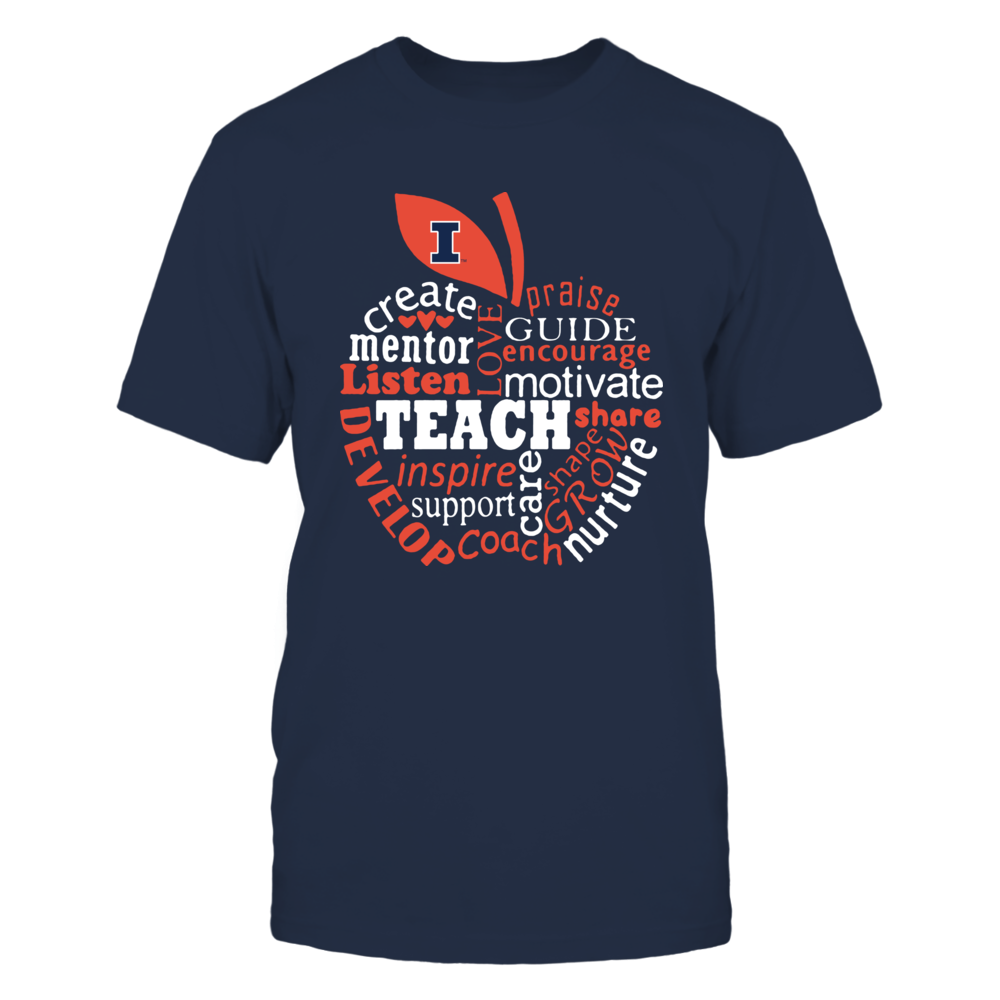 Illinois Fighting Illini - Teacher - Teaching Quotes Inside Apple - IF-IC13-DS37 Front picture