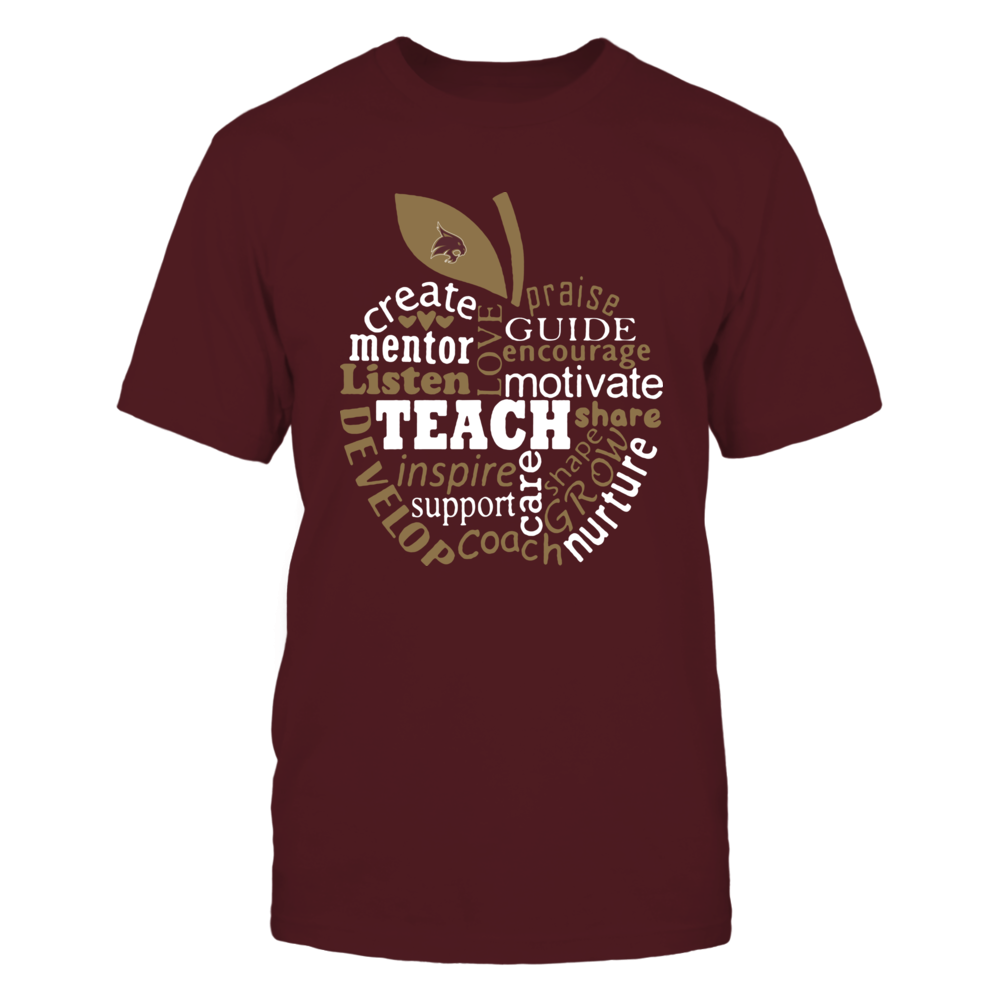 Texas State Bobcats - Teacher - Teaching Quotes Inside Apple - IF-IC13-DS85 Front picture