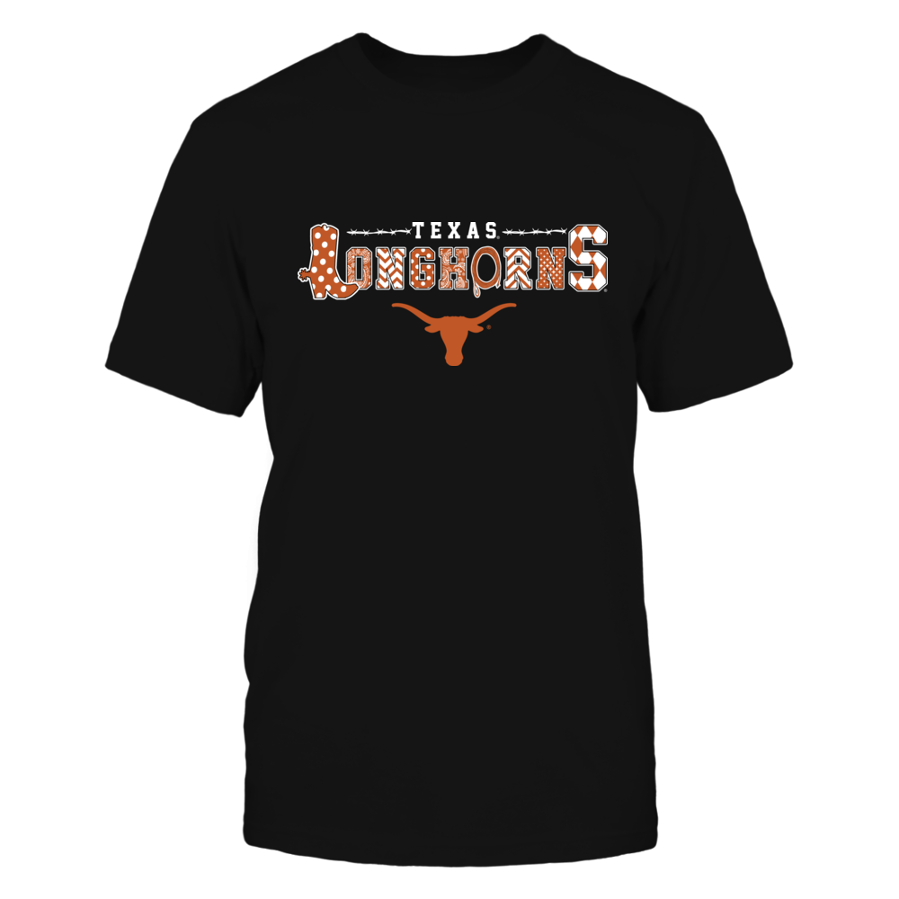 Texas Longhorns - Team Name - Boots - Patterned  - IF13-IC13-DS75 Front picture