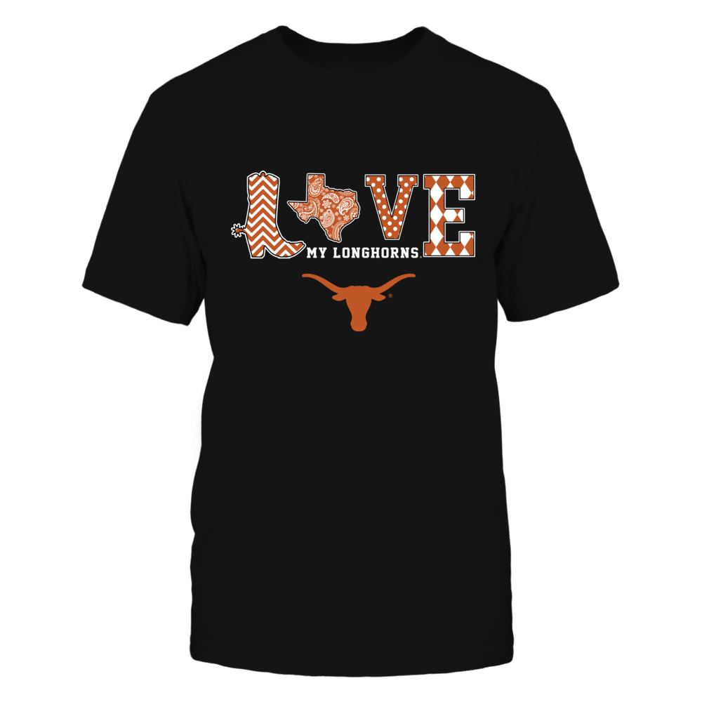 Texas Longhorns - Love Boot Slogan Pattern - IF17-IC17-DS75 Front picture