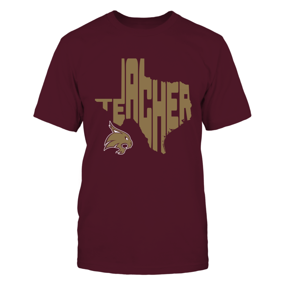 Texas State Bobcats - Teacher Inside State Map - IF17-IC17-DS27 Front picture