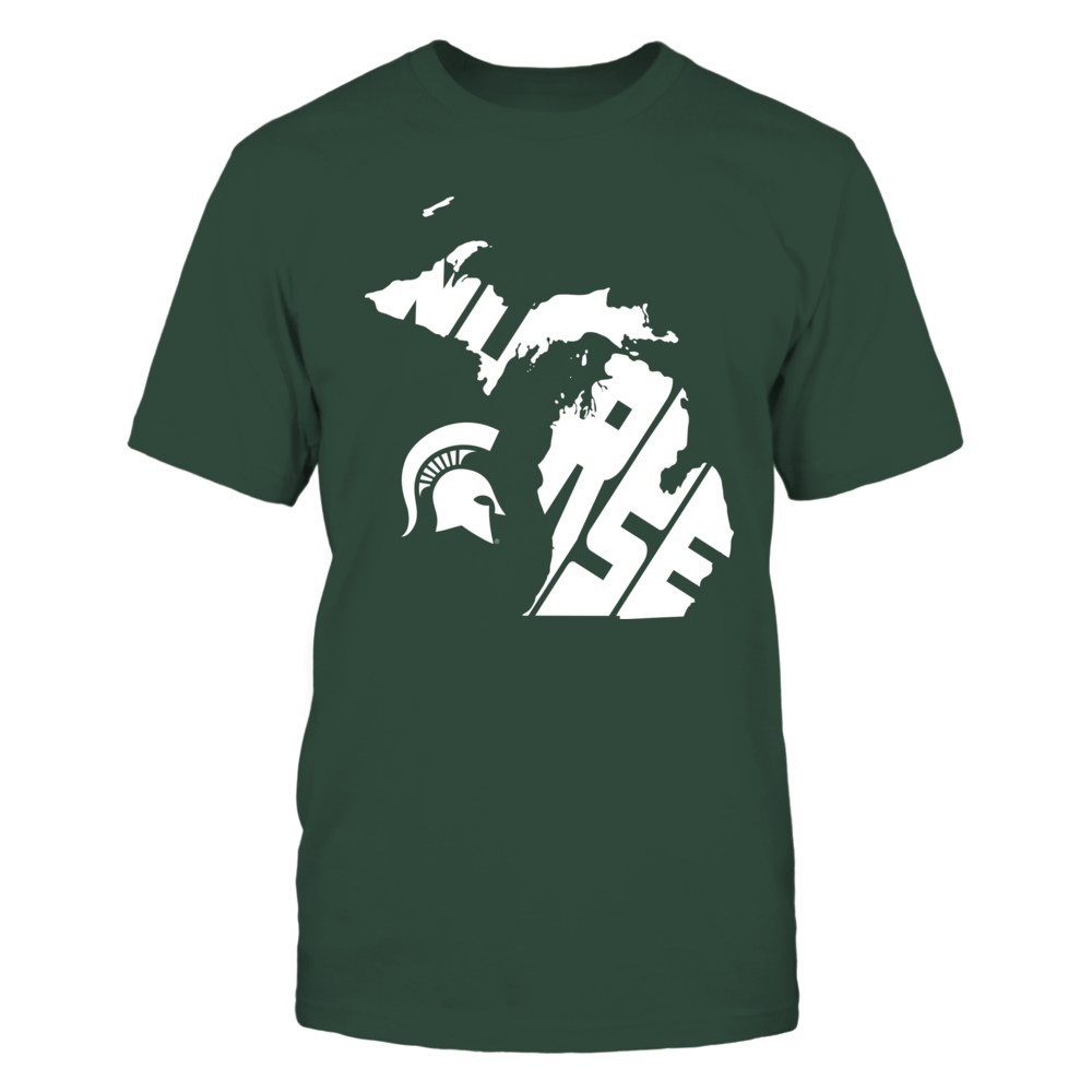 Michigan State Spartans - Nurse Inside State Map - IF17-IC17-DS27 Front picture