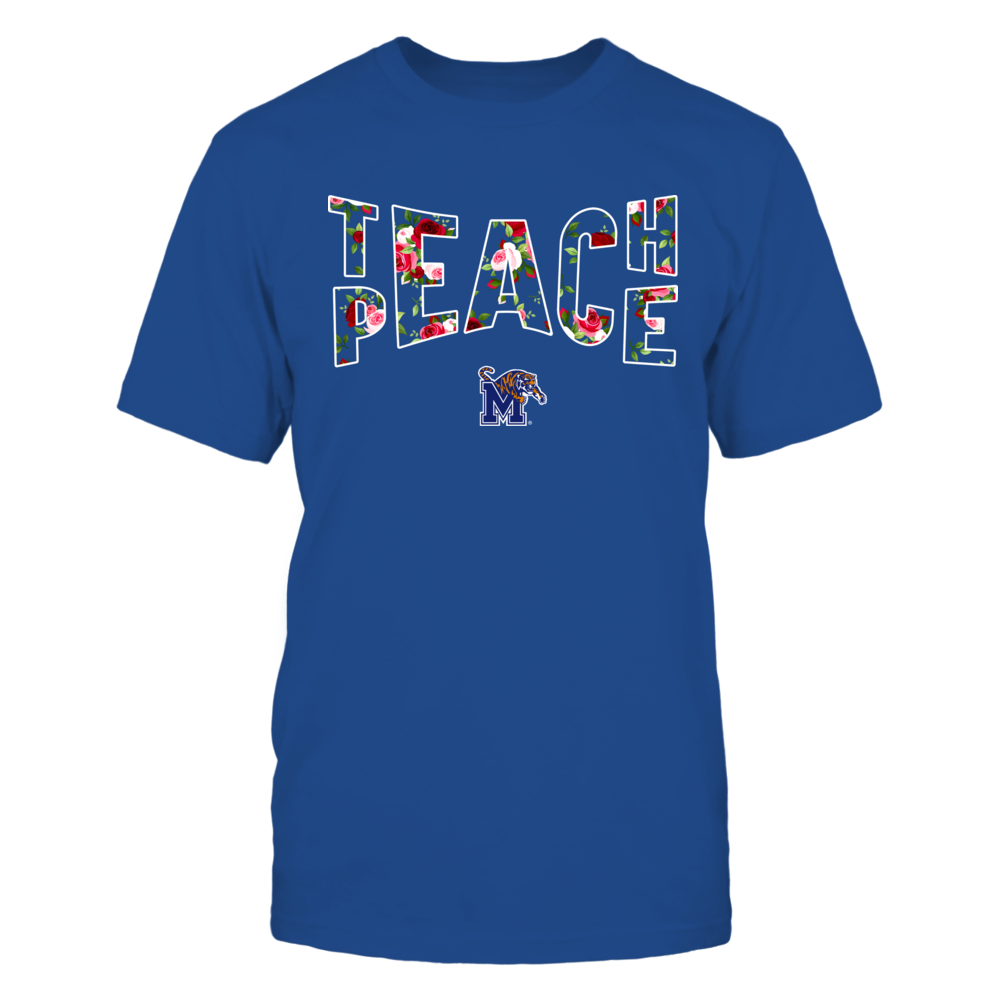 Memphis Tigers - Teach Peace Floral Pattern Front picture