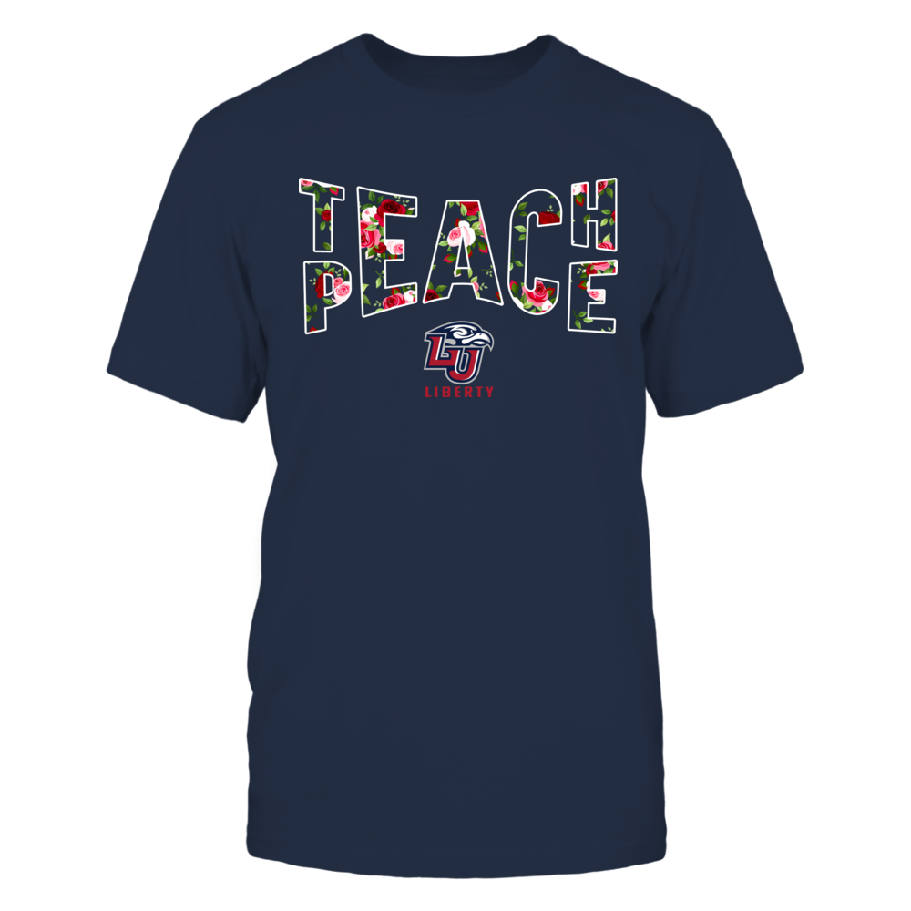 Liberty Flames - Teach Peace Floral Pattern Front picture