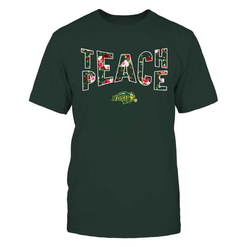 North Dakota State Bison - Teach Peace Floral Pattern Front picture