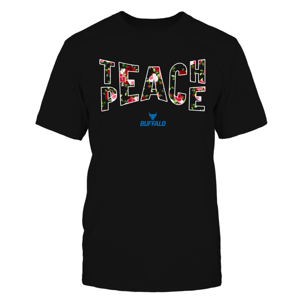 Buffalo Bulls - Teach Peace Floral Pattern Front picture