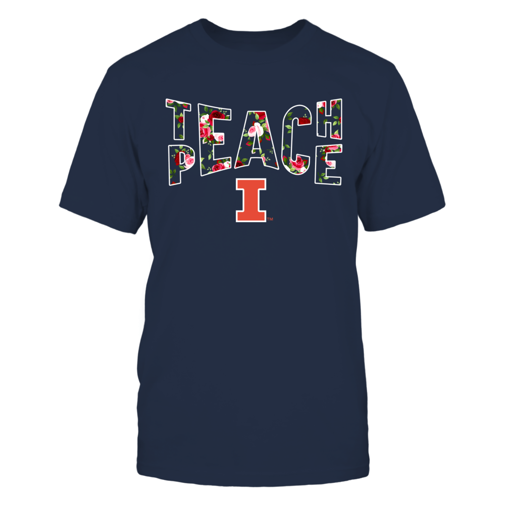 Illinois Fighting Illini - Teach Peace Floral Pattern Front picture