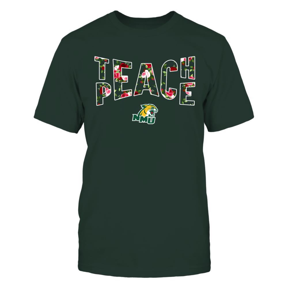 Northern Michigan Wildcats - Teach Peace Floral Pattern Front picture