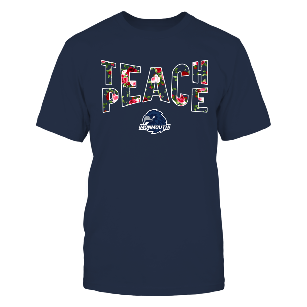 Monmouth Hawks - Teach Peace Floral Pattern Front picture