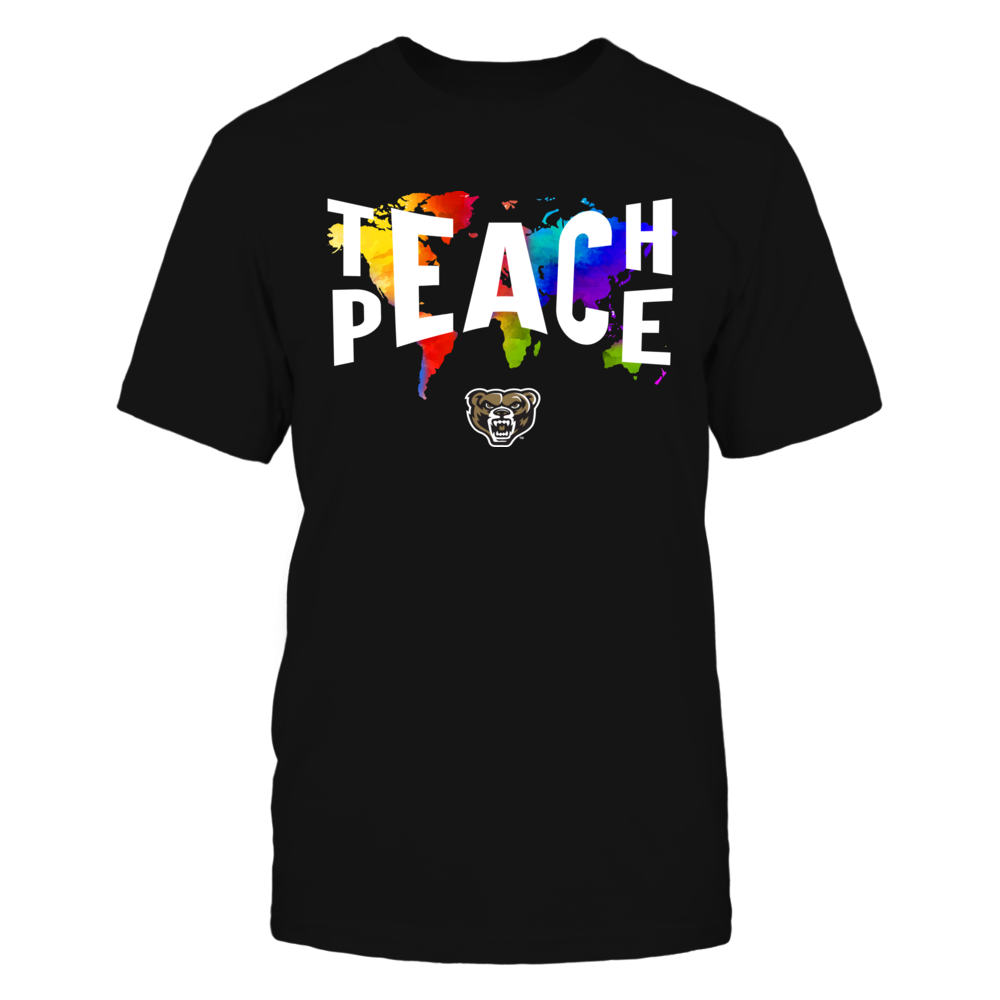 Oakland Golden Grizzlies - Teach Peace Color Drop Front picture