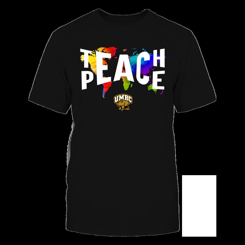 UMBC Retrievers - Teach Peace Color Drop Front picture