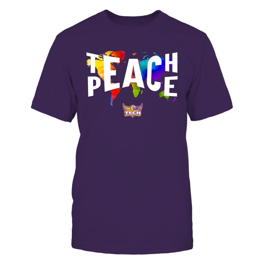 Tennessee Tech Golden Eagles - Teach Peace Color Drop Front picture