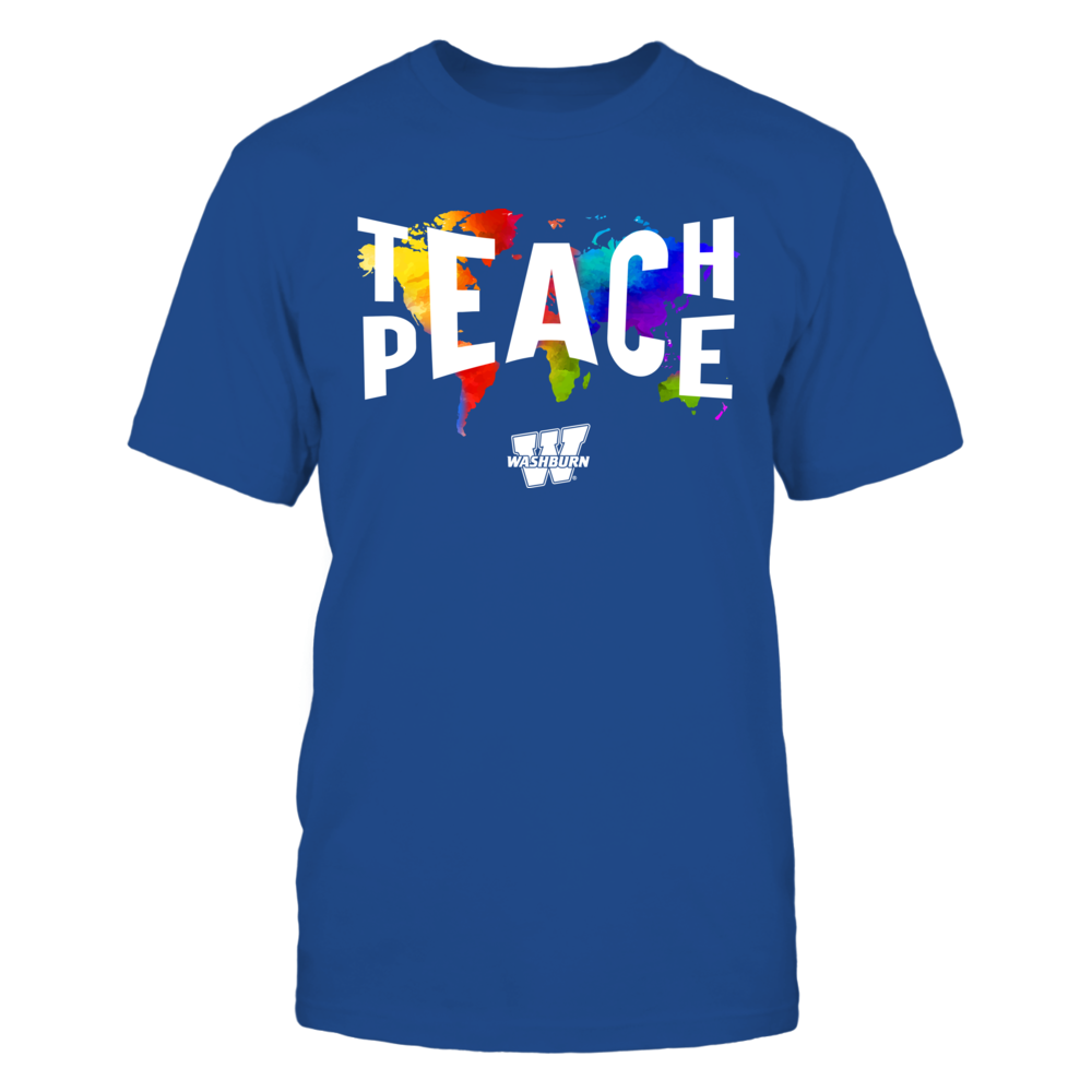 Washburn Ichabods - Teach Peace Color Drop Front picture