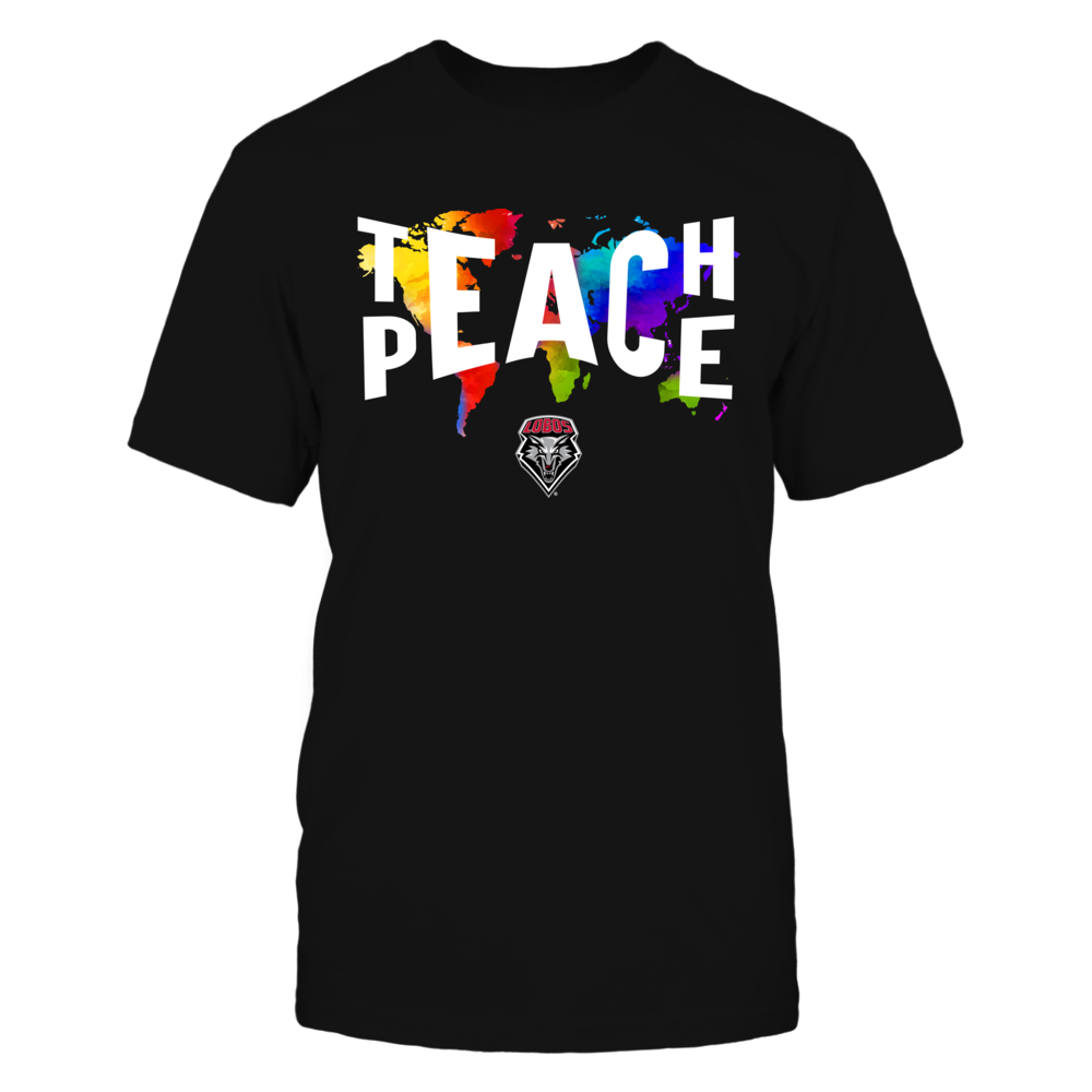 New Mexico Lobos - Teach Peace Color Drop Front picture