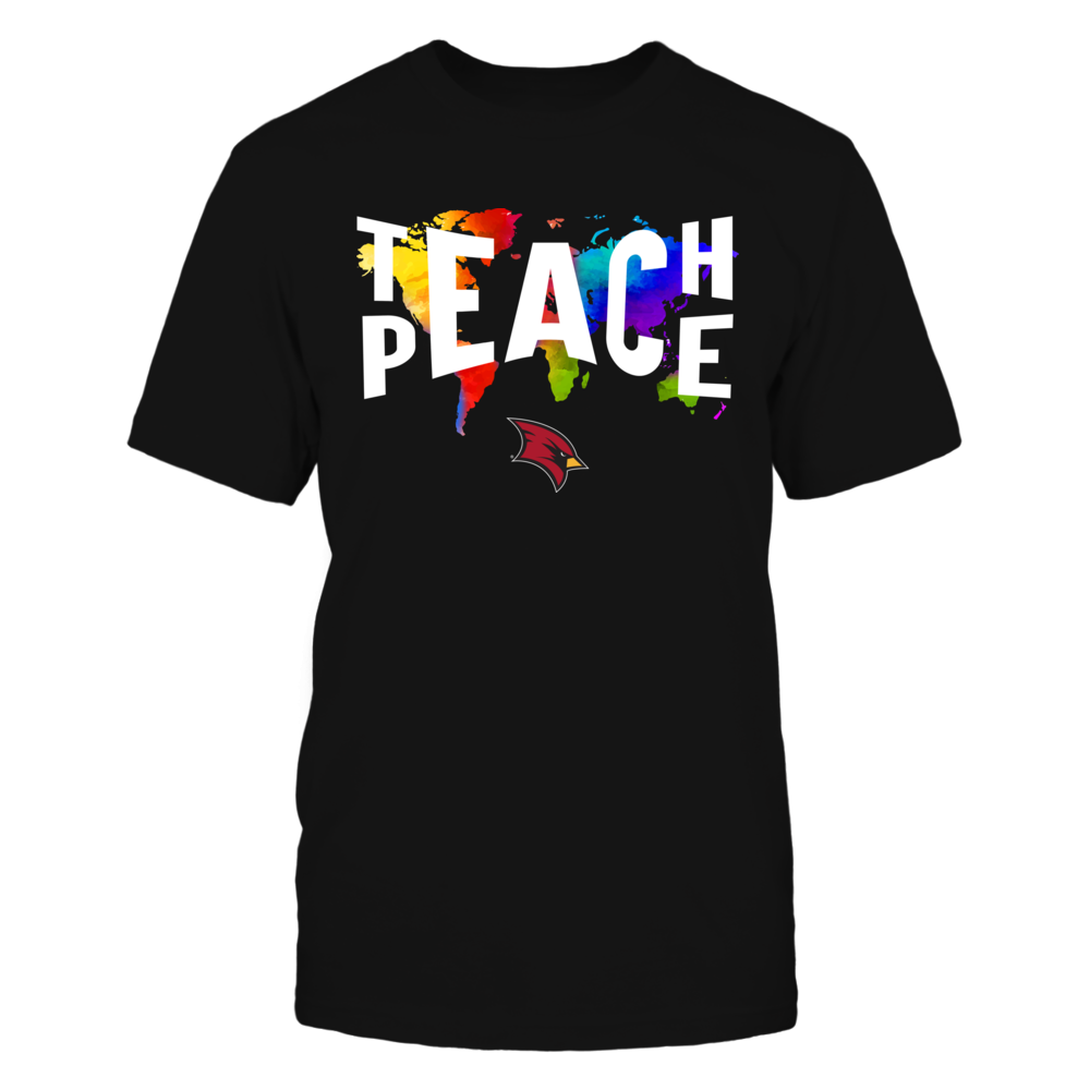 Saginaw Valley State Cardinals - Teach Peace Color Drop Front picture