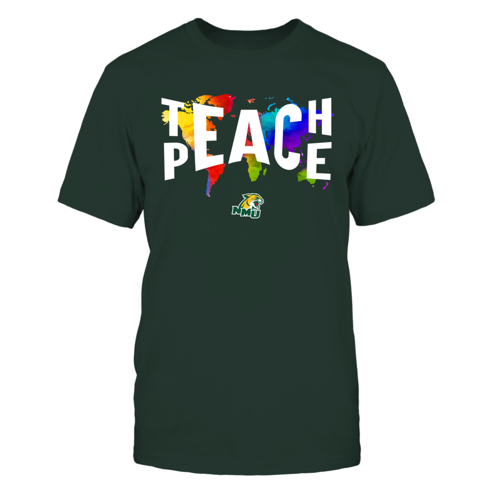 Northern Michigan Wildcats - Teach Peace Color Drop Front picture