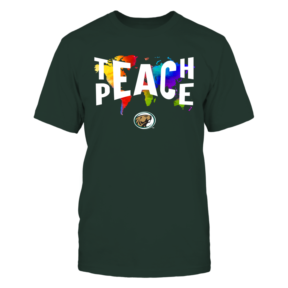 Bemidji State Beavers - Teach Peace Color Drop Front picture