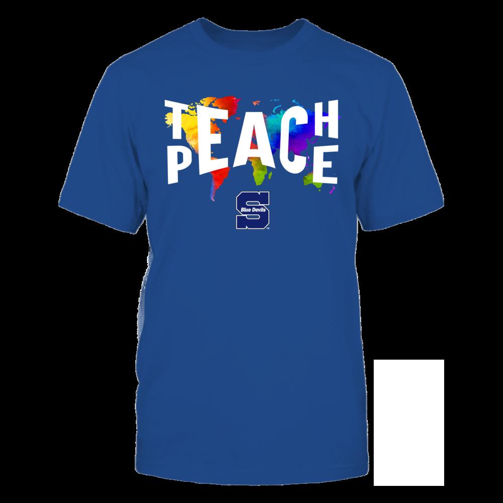 Wisconsin Stout Blue Devils - Teach Peace Color Drop Front picture