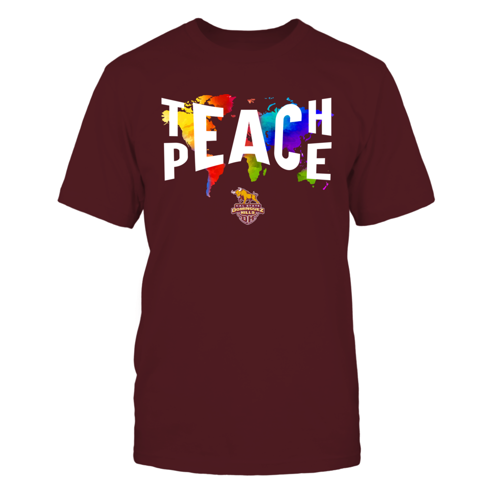 Cal State Dominguez Hills Toros - Teach Peace Color Drop Front picture