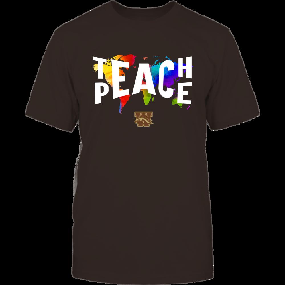 Western Michigan Broncos - Teach Peace Color Drop Front picture