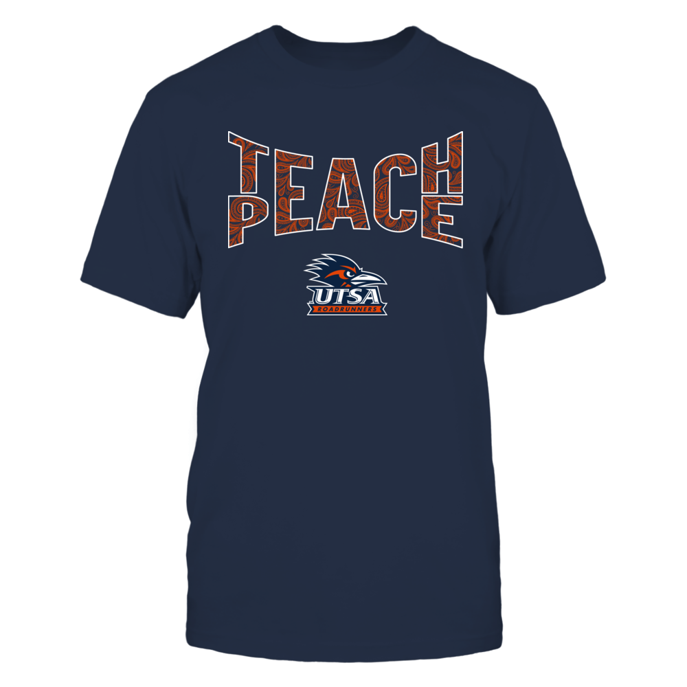 UTSA Roadrunners - Teach Peace Paisley Pattern Front picture
