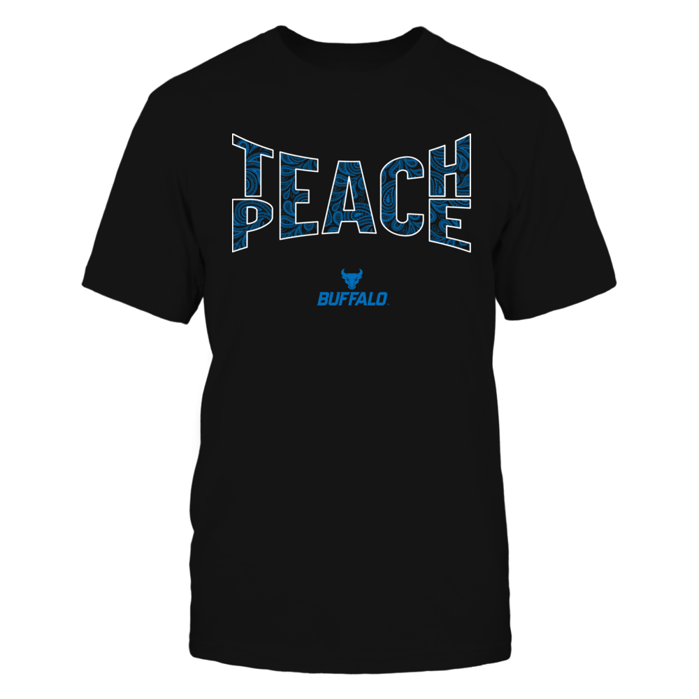 Buffalo Bulls - Teach Peace Paisley Pattern Front picture