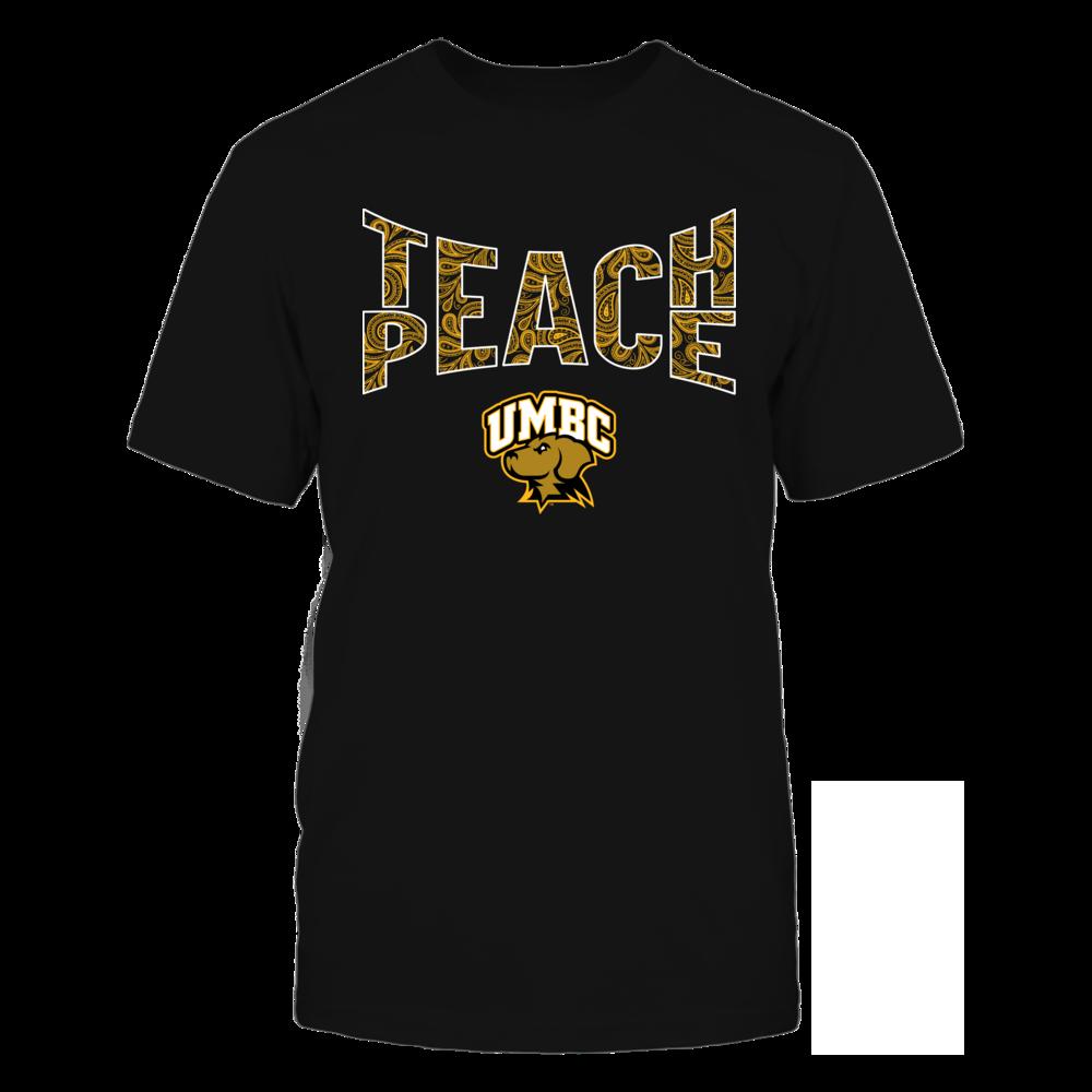 UMBC Retrievers - Teach Peace Paisley Pattern Front picture