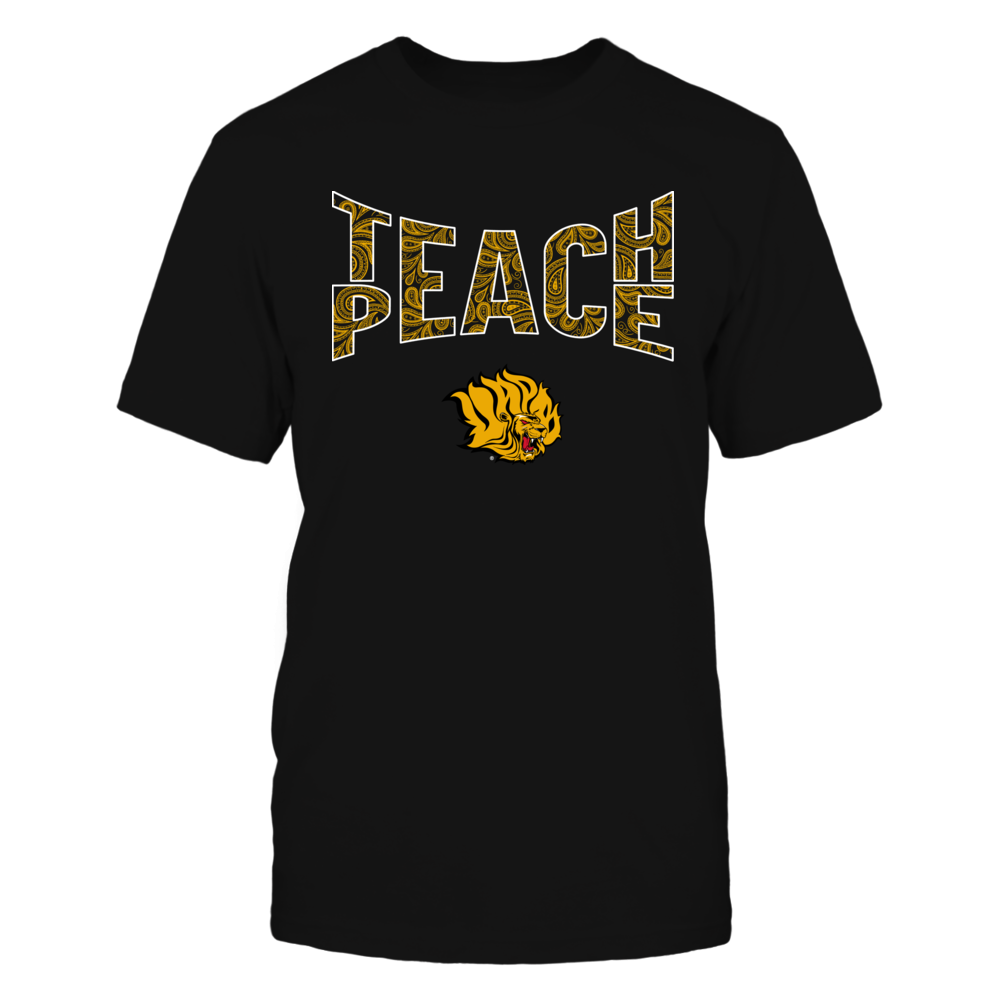 Arkansas Pine Bluff Golden Lions - Teach Peace Paisley Pattern Front picture