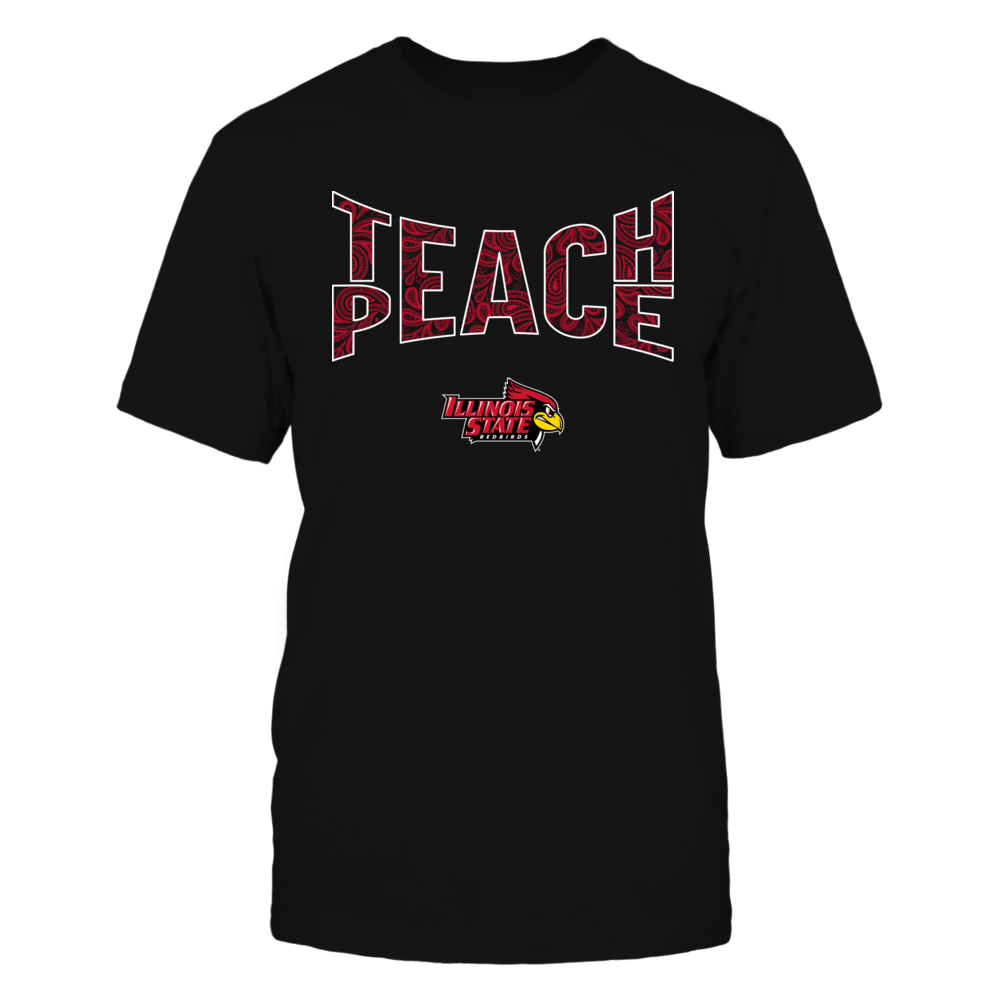 Illinois State Redbirds - Teach Peace Paisley Pattern Front picture