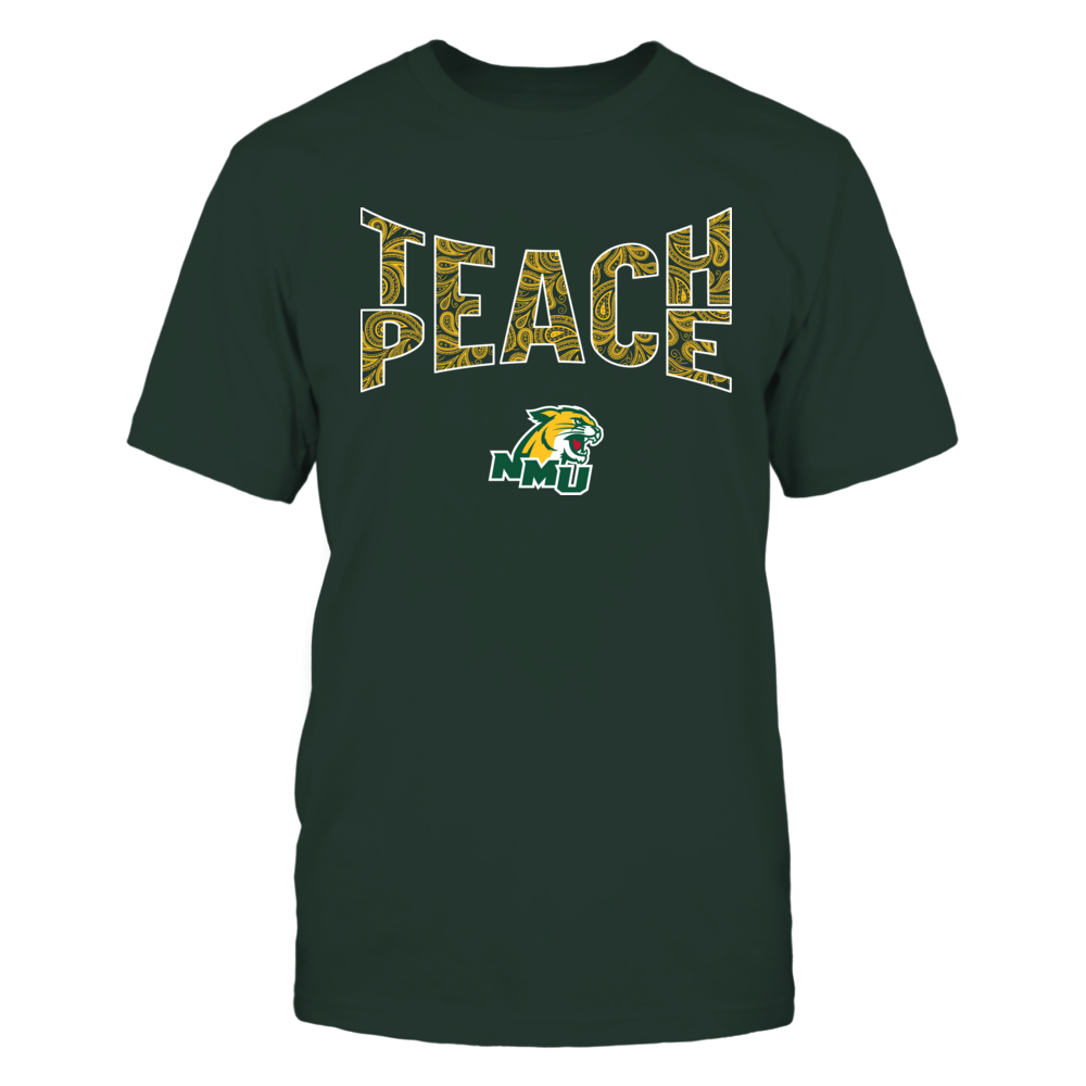 Northern Michigan Wildcats - Teach Peace Paisley Pattern Front picture