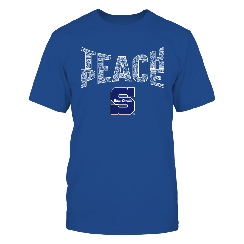 Wisconsin Stout Blue Devils - Teach Peace Paisley Pattern Front picture