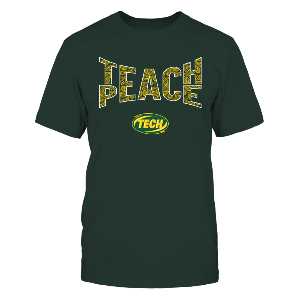 Arkansas Tech Golden Suns - Teach Peace Paisley Pattern Front picture