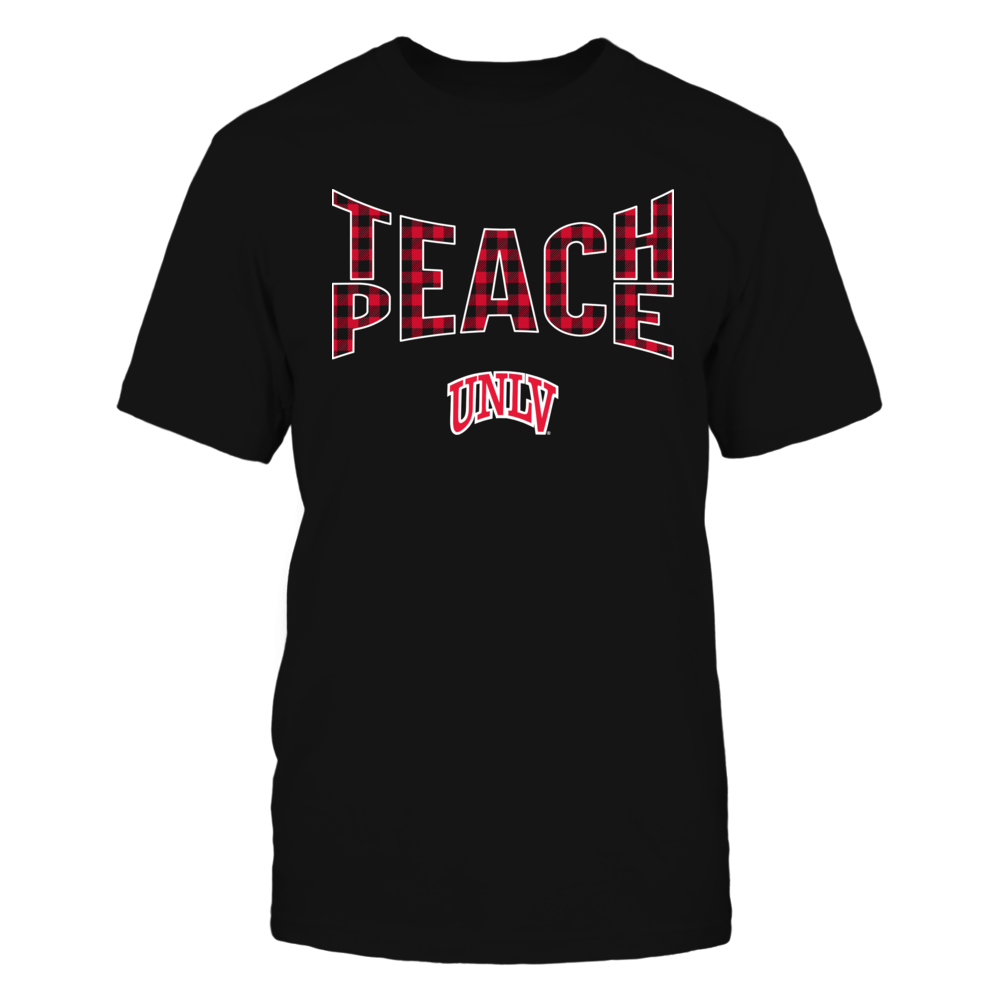 UNLV Rebels - Teach Peace Checkered Pattern Front picture