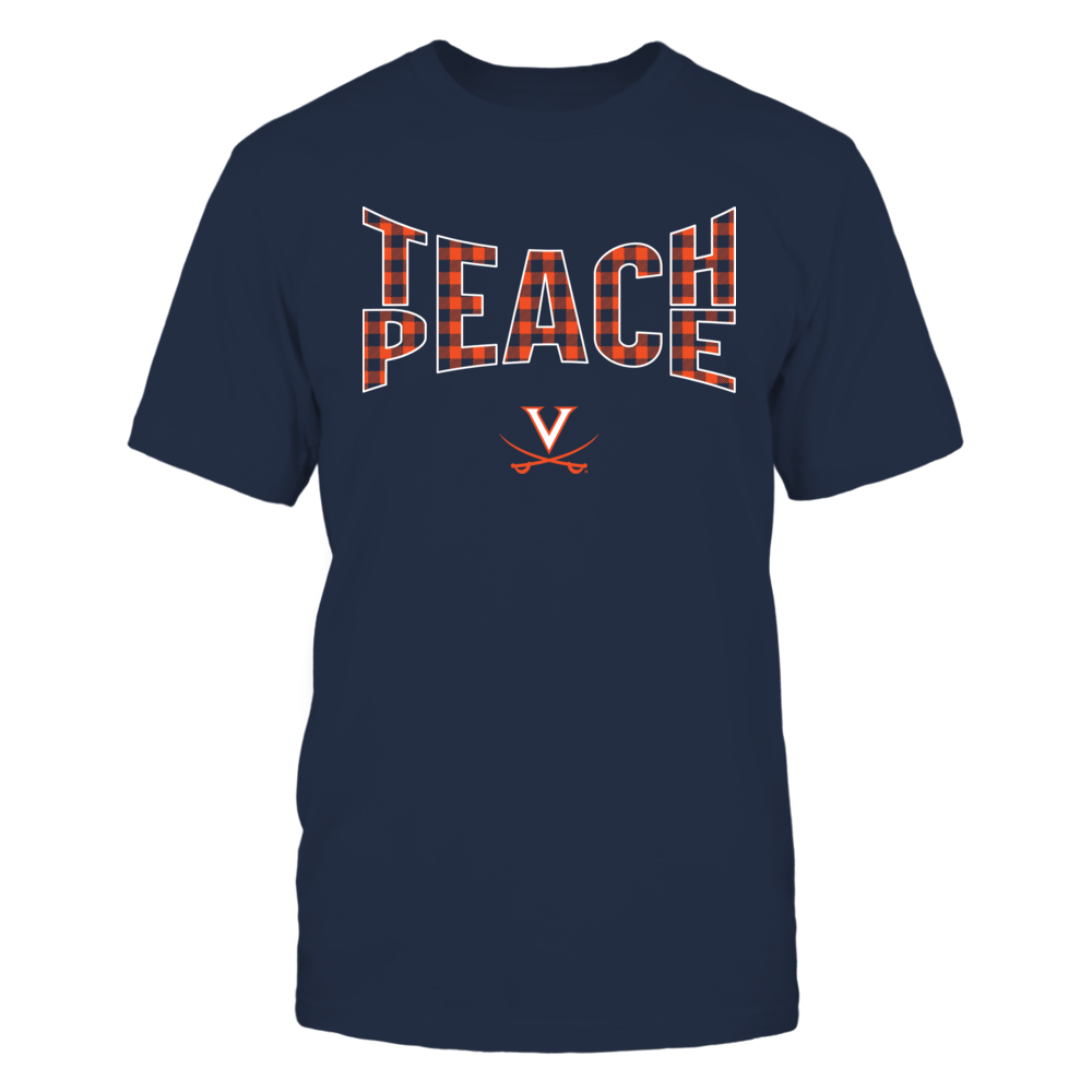 Virginia Cavaliers - Teach Peace Checkered Pattern Front picture