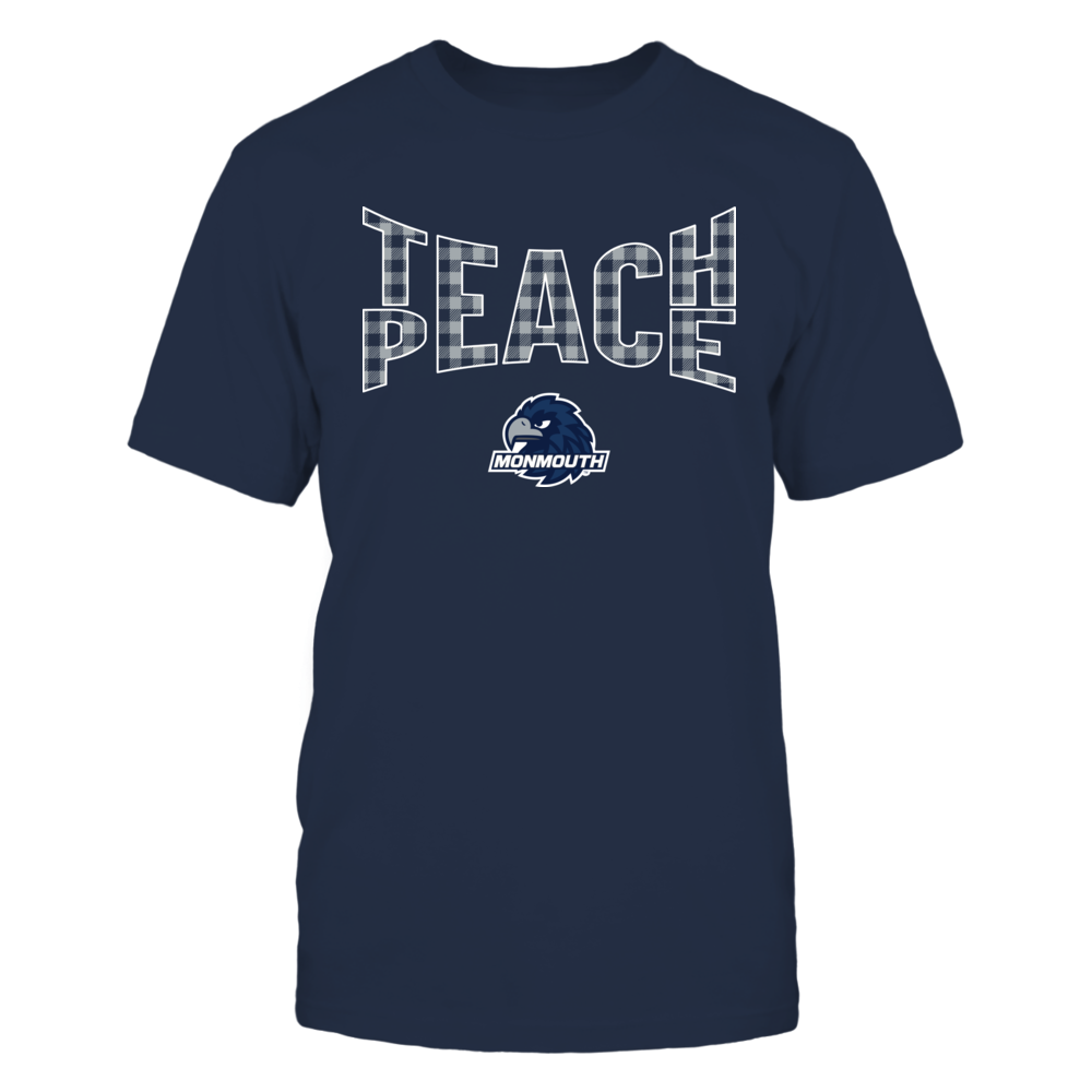 Monmouth Hawks - Teach Peace Checkered Pattern Front picture