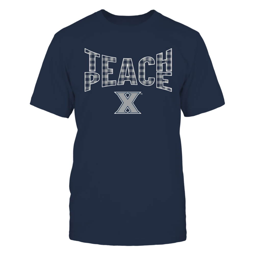 Xavier Musketeers - Teach Peace Checkered Pattern Front picture