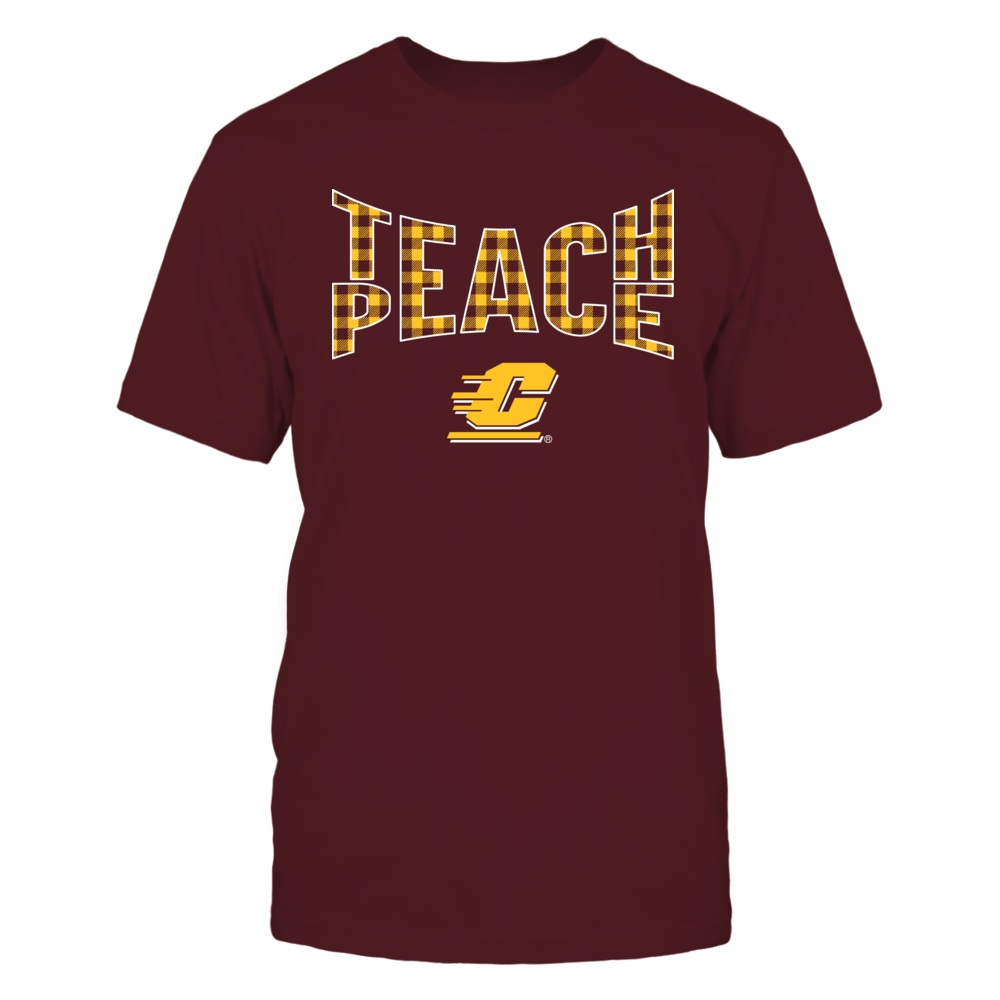 Central Michigan Chippewas - Teach Peace Checkered Pattern Front picture