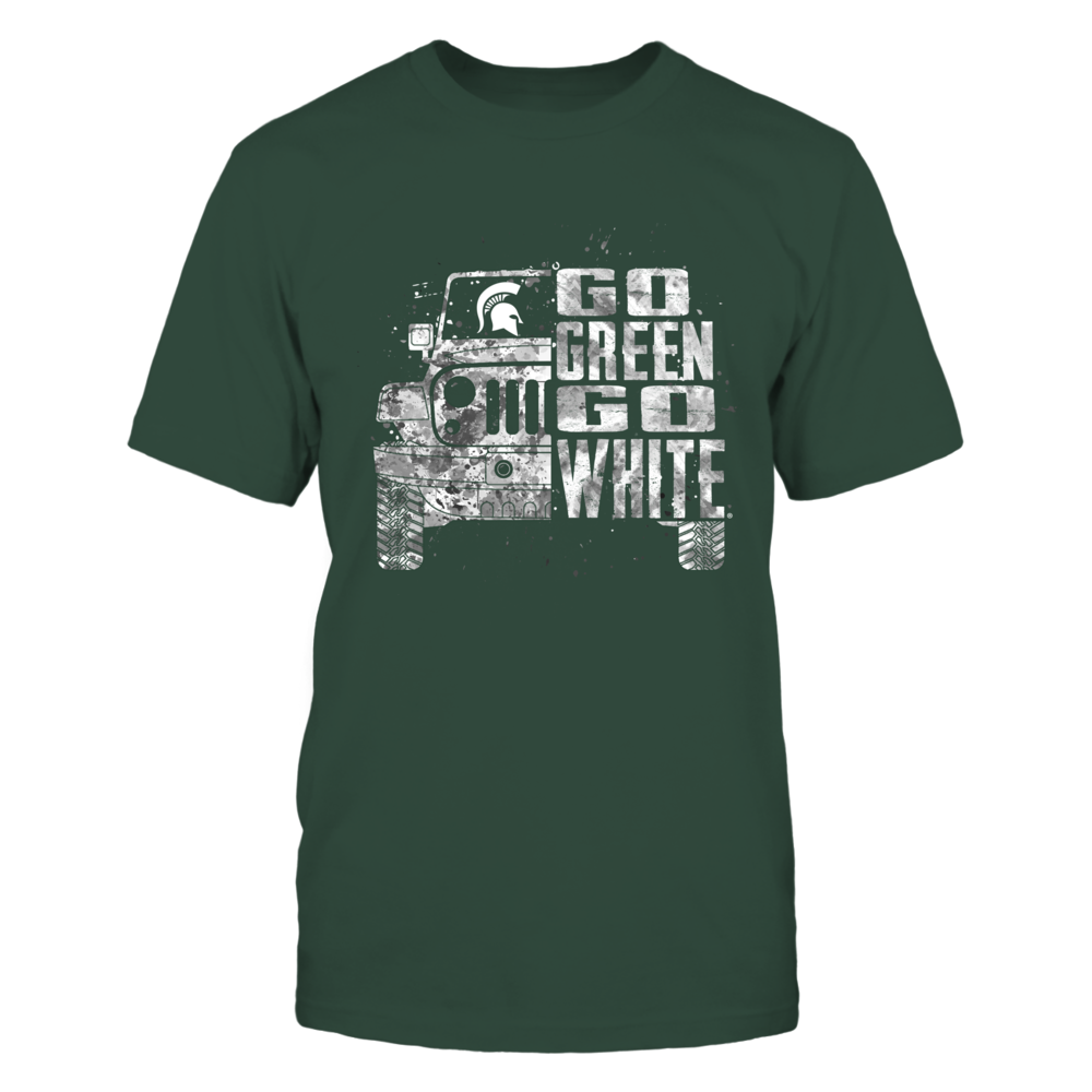 Michigan State Spartans - Half Jeep - Team Slogan - IF13-IC13-DS37 Front picture