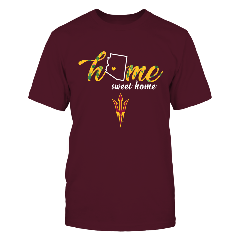 Arizona State Sun Devils - Home sweet home - State Outline Cactus - IF32-IC32-DS45 Front picture