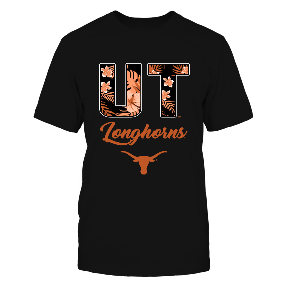 Texas Longhorns - Tropical Patterned Letters - Team Name - IF13-IC13-DS63 Front picture