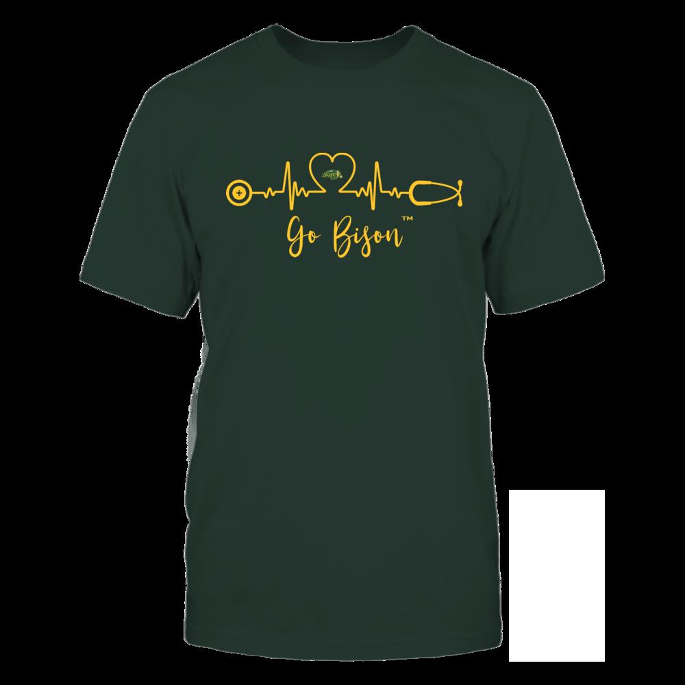 North Dakota State Bison - Heart ECG - Slogan Front picture