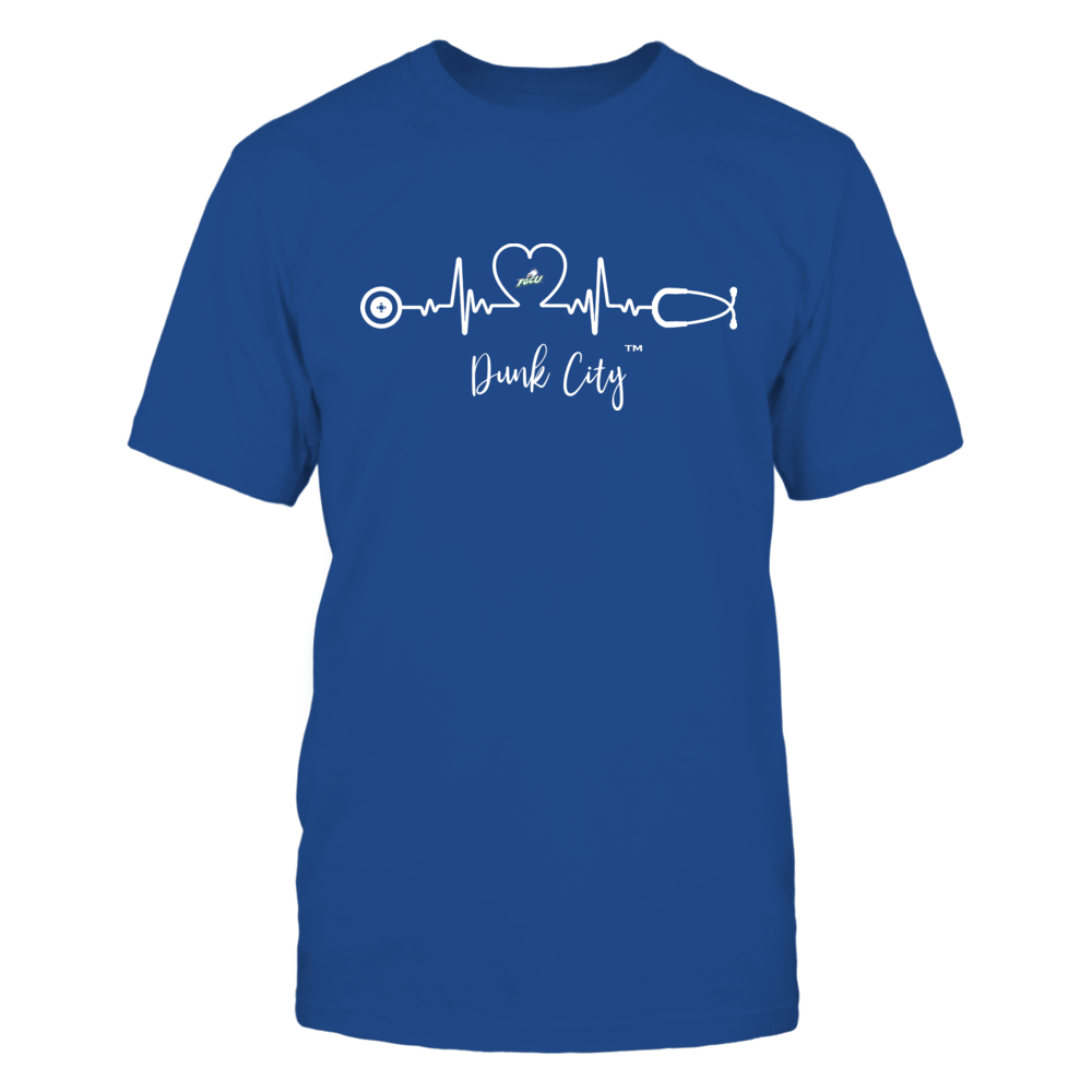 Florida Gulf Coast Eagles - Heart ECG - Slogan Front picture