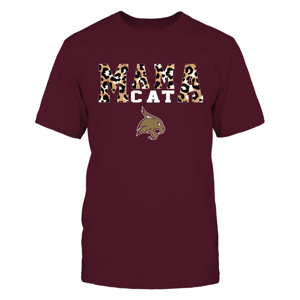 Texas State Bobcats - Mama Mascot - Slogan Pattern Leopard - IF17-IC17-DS27 Front picture