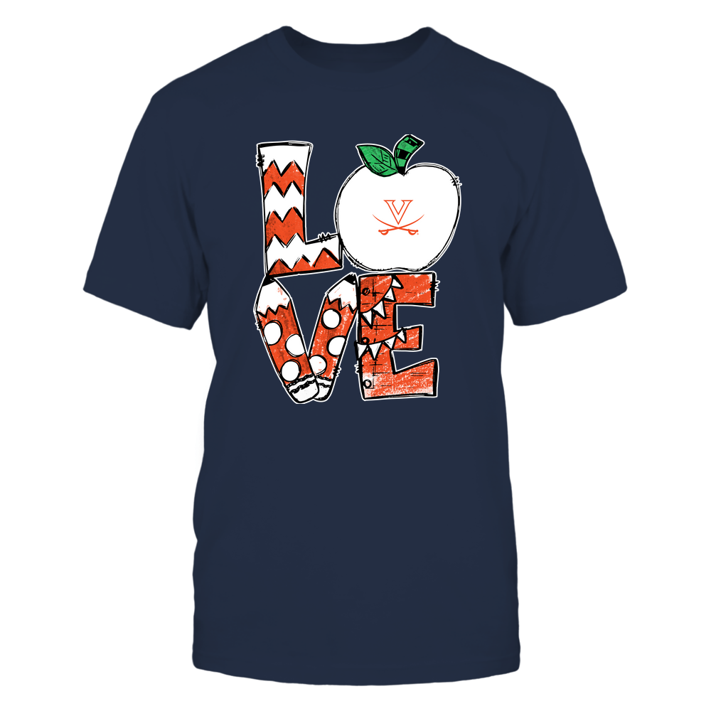 Virginia Cavaliers - Love Teacher Hand Drawn  - IF-IC32-DS29 Front picture