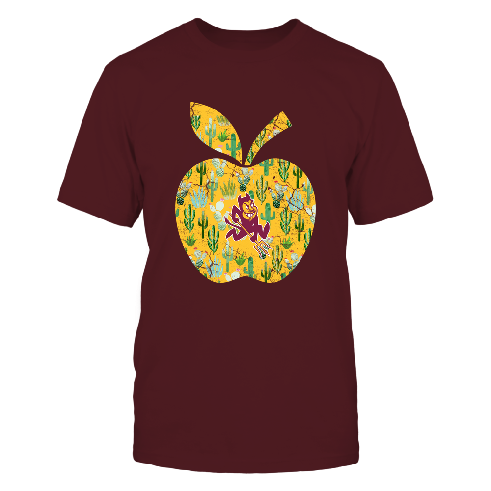 Arizona State Sun Devils - Teacher - Cactus Pattern Apple - IF13-IC13-DS75 Front picture