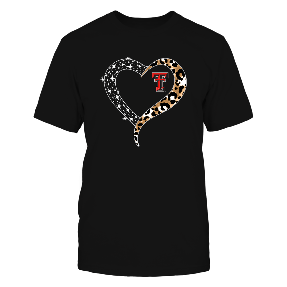 Texas Tech Red Raiders - Half Heart - Leopard Pattern - IF13-IC13-DS64 Front picture
