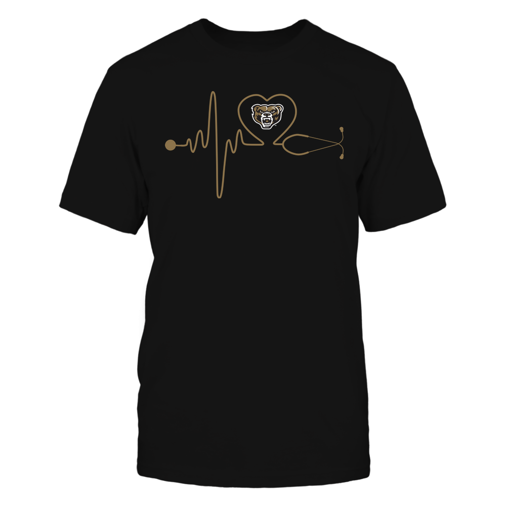 Oakland Golden Grizzlies - Nurse - Stethoscope Heartbeat - IF13-IC13-DS37 Front picture