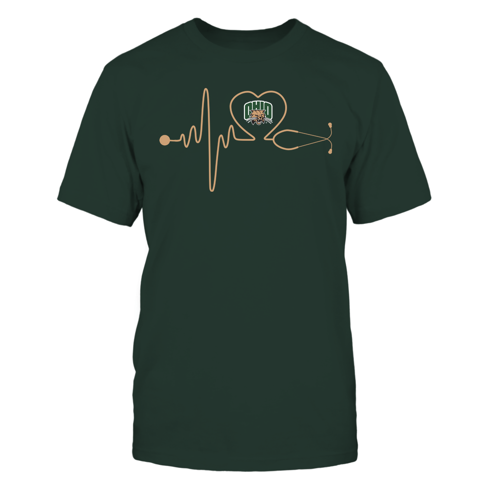 Ohio Bobcats - Nurse - Stethoscope Heartbeat - IF13-IC13-DS37 Front picture