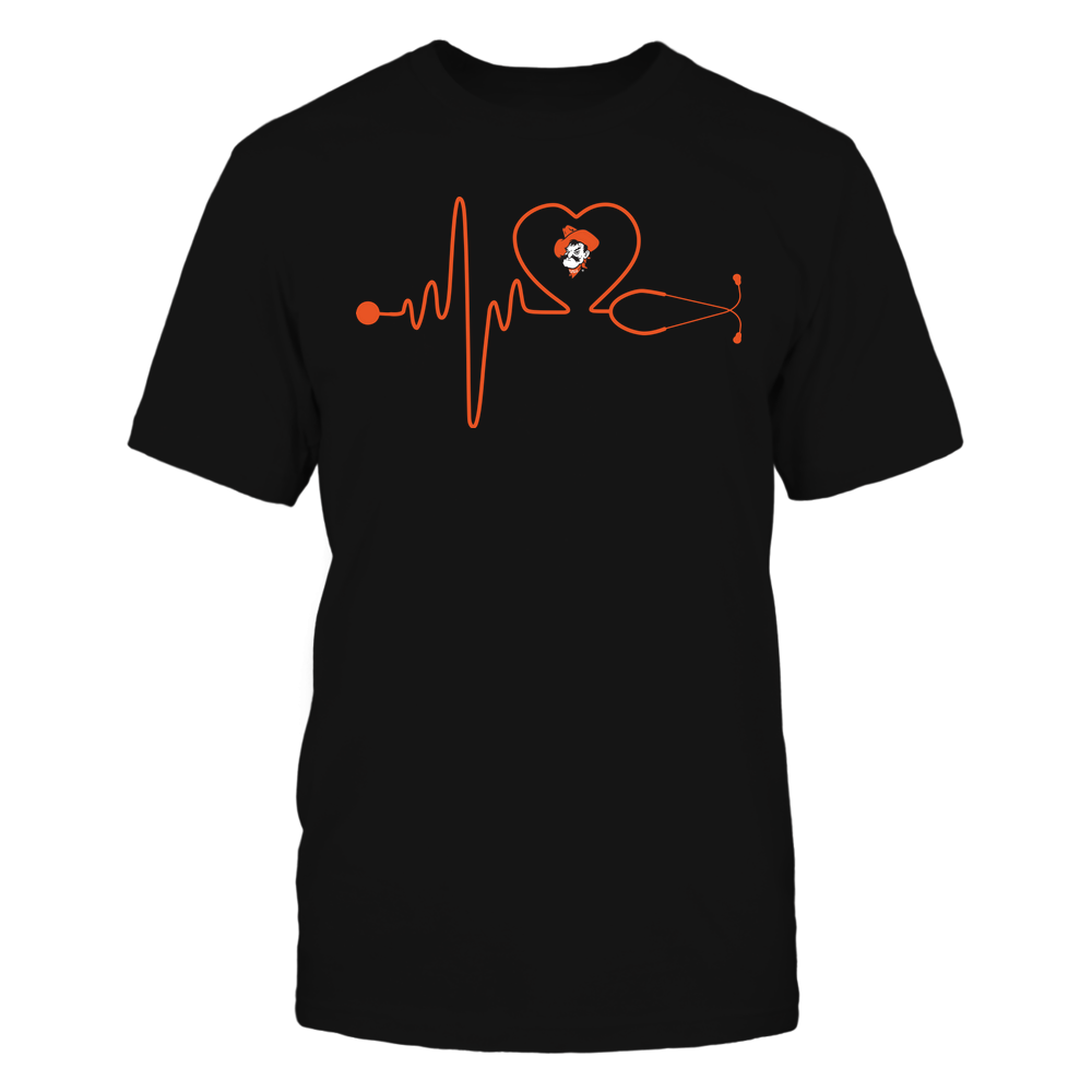 Oklahoma State Cowboys - Nurse - Stethoscope Heartbeat - IF13-IC13-DS37 Front picture