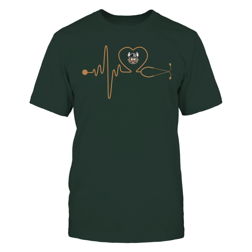 Cleveland State Vikings - Nurse - Stethoscope Heartbeat - IF13-IC13-DS37 Front picture